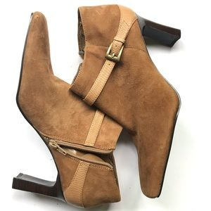 Brown Bandalino suede feeling booties boots 7.5